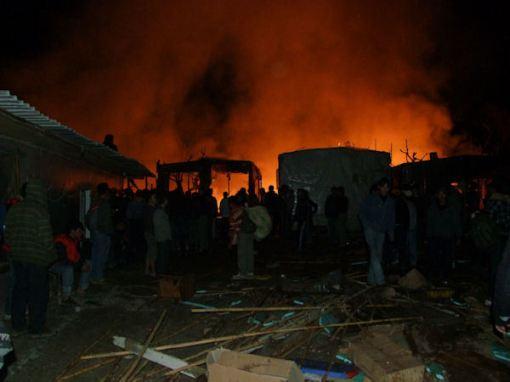 آتش کشیدن خاطرات هزاران مهاجر افغان توسط دولت فاشیست یونان در پاترا
