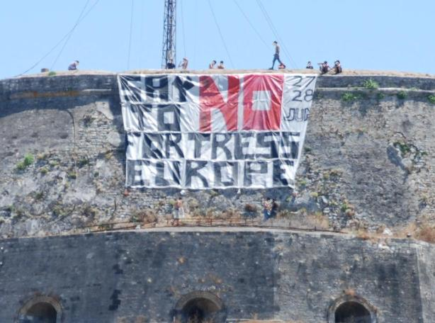banner at Corfu fortress